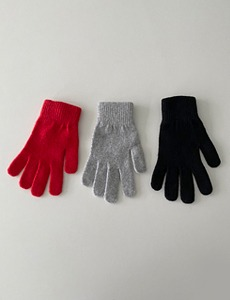 wool colour gloves(3c)