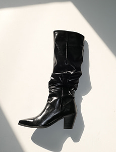 black coating long boots