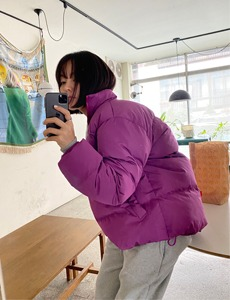 colour padded jacket(2c)